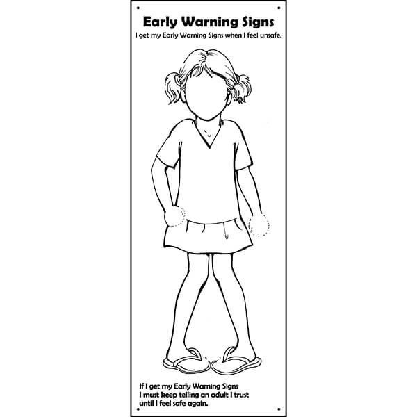 Safe4Kids Early Warning Signs Banner - Girl Number 1