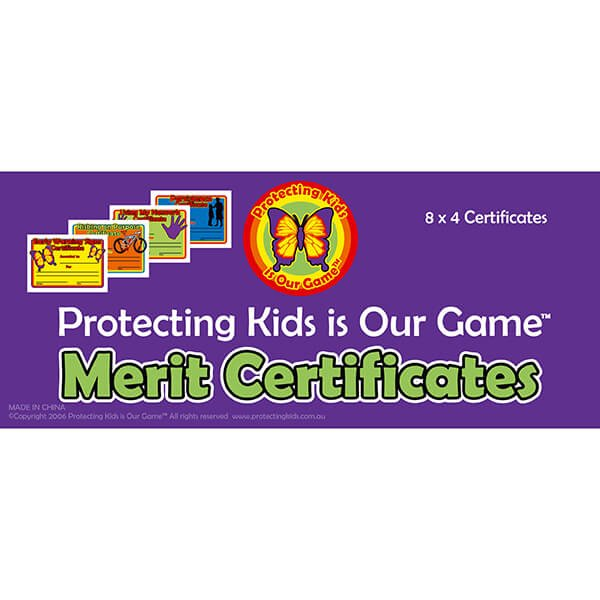 Safe4Kids Assorted Merit Certificates