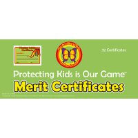 Safe4Kids Playing Safely Merit Certificates