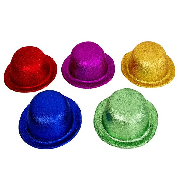 Safe4Kids Glitter Bowler Hats