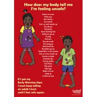 Safe4Kids Early Warning Signs Poster Aboriginal Children